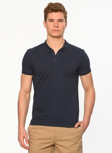 Polo Yaka Tişört-Mavi